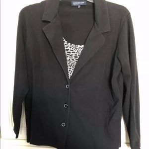 Jones New York Signature 1X Black Blazer